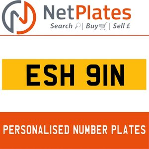 ESH 91N PERSONALISED PRIVATE CHERISHED DVLA NUMBER PLATE