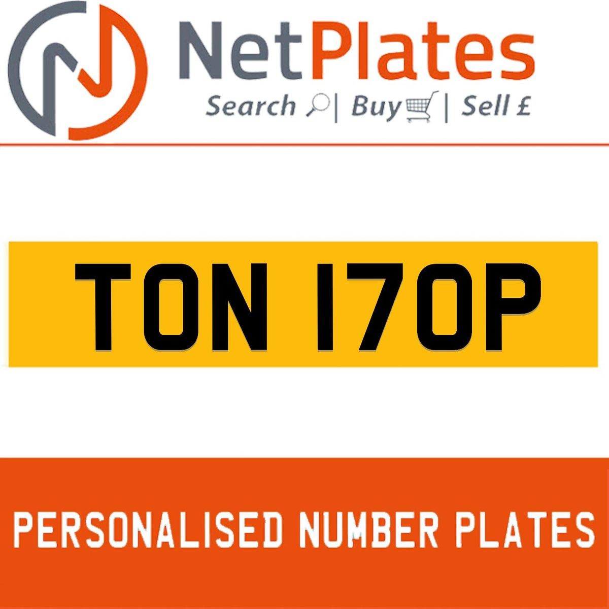 TON 170P PERSONALISED PRIVATE CHERISHED DVLA NUMBER PLATE For Sale (picture 1 of 5)