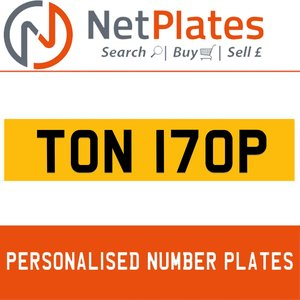 TON 170P PERSONALISED PRIVATE CHERISHED DVLA NUMBER PLATE For Sale
