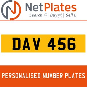 DAV 101A PERSONALISED PRIVATE CHERISHED DVLA NUMBER PLATE
