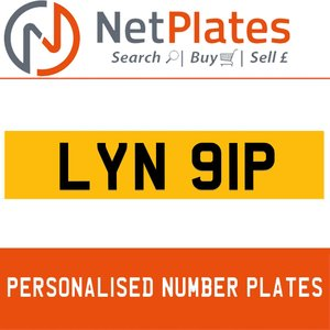 LYN 91P PERSONALISED PRIVATE CHERISHED DVLA NUMBER PLATE For Sale