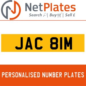 JAC 81M PERSONALISED PRIVATE CHERISHED DVLA NUMBER PLATE For Sale