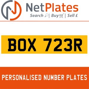 BOX 732R PERSONALISED PRIVATE CHERISHED DVLA NUMBER PLATE