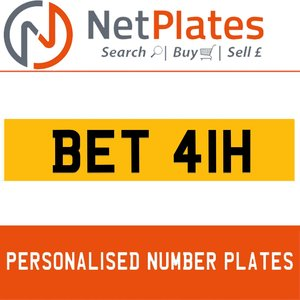 BET 41H PERSONALISED PRIVATE CHERISHED DVLA NUMBER PLATE For Sale