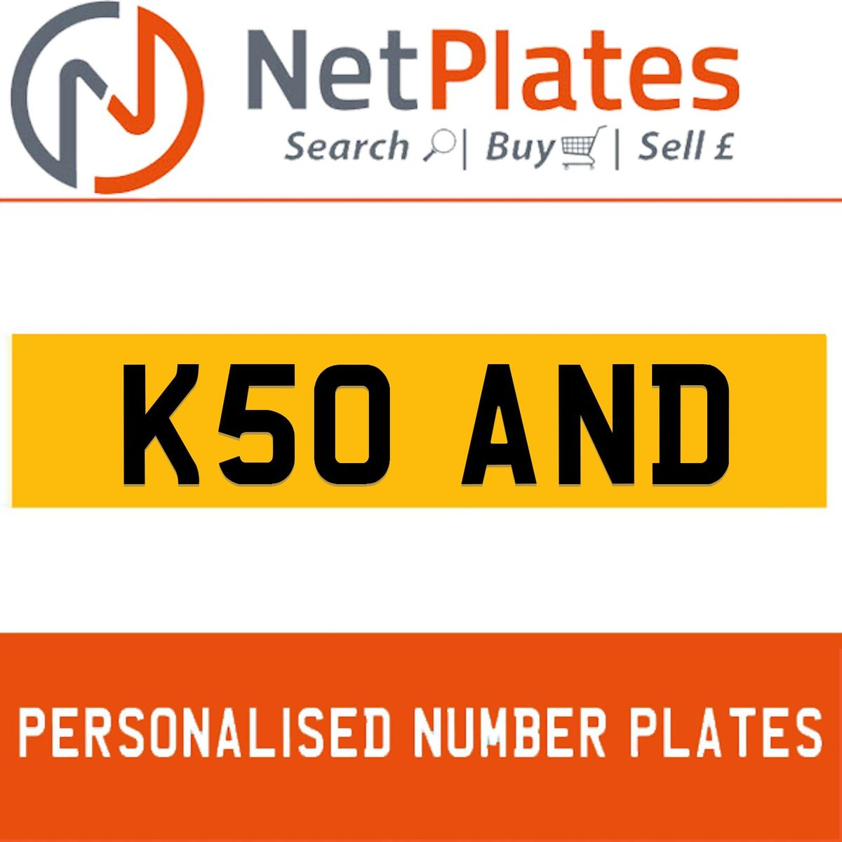 K50 AND PERSONALISED PRIVATE CHERISHED DVLA NUMBER PLATE For Sale (picture 1 of 5)