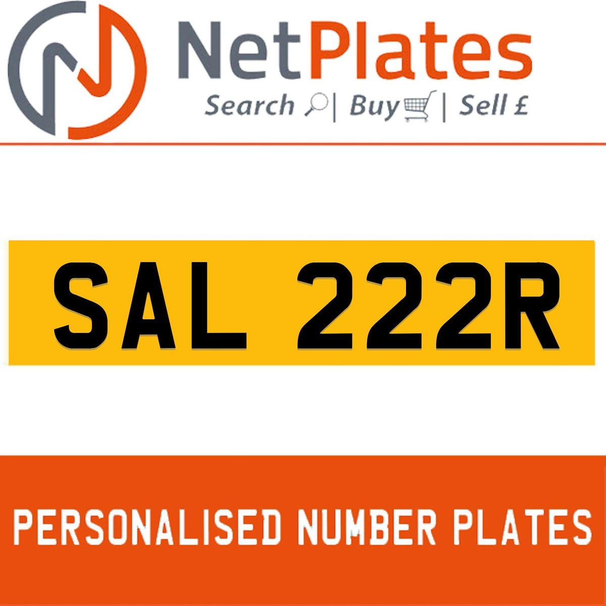 SAL 222R PERSONALISED PRIVATE CHERISHED DVLA NUMBER PLATE For Sale (picture 1 of 5)