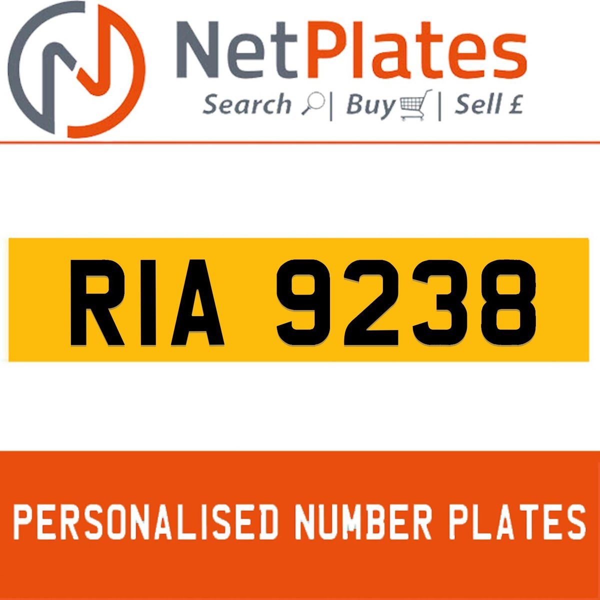 RIA 9238 PERSONALISED PRIVATE CHERISHED DVLA NUMBER PLATE For Sale (picture 1 of 5)