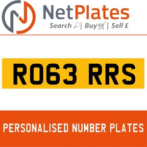 RO63 RRS PERSONALISED PRIVATE CHERISHED DVLA NUMBER PLATE