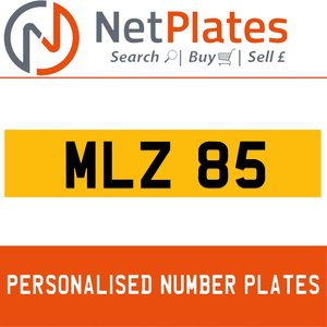 MLZ 85 PERSONALISED PRIVATE CHERISHED DVLA NUMBER PLATE For Sale