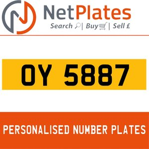 OY 5887 PERSONALISED PRIVATE CHERISHED DVLA NUMBER PLATE For Sale