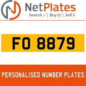 FO 8879 PERSONALISED PRIVATE CHERISHED DVLA NUMBER PLATE For Sale