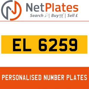 EL 659 PERSONALISED PRIVATE CHERISHED DVLA NUMBER PLATE For Sale