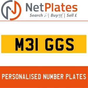 M31 GGS PERSONALISED PRIVATE CHERISHED DVLA NUMBER PLATE For Sale
