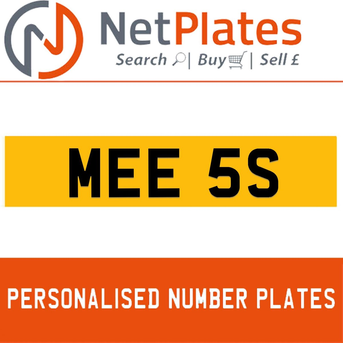 MEE 5S PERSONALISED PRIVATE CHERISHED DVLA NUMBER PLATE For Sale (picture 1 of 5)