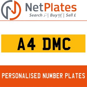 A4 DMC PERSONALISED PRIVATE CHERISHED DVLA NUMBER PLATE For Sale