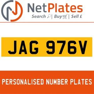 JAG 976V PERSONALISED PRIVATE CHERISHED DVLA NUMBER PLATE