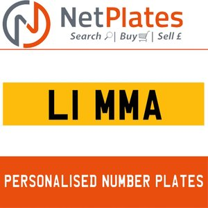 L1 MMA PERSONALISED PRIVATE CHERISHED DVLA NUMBER PLATE For Sale