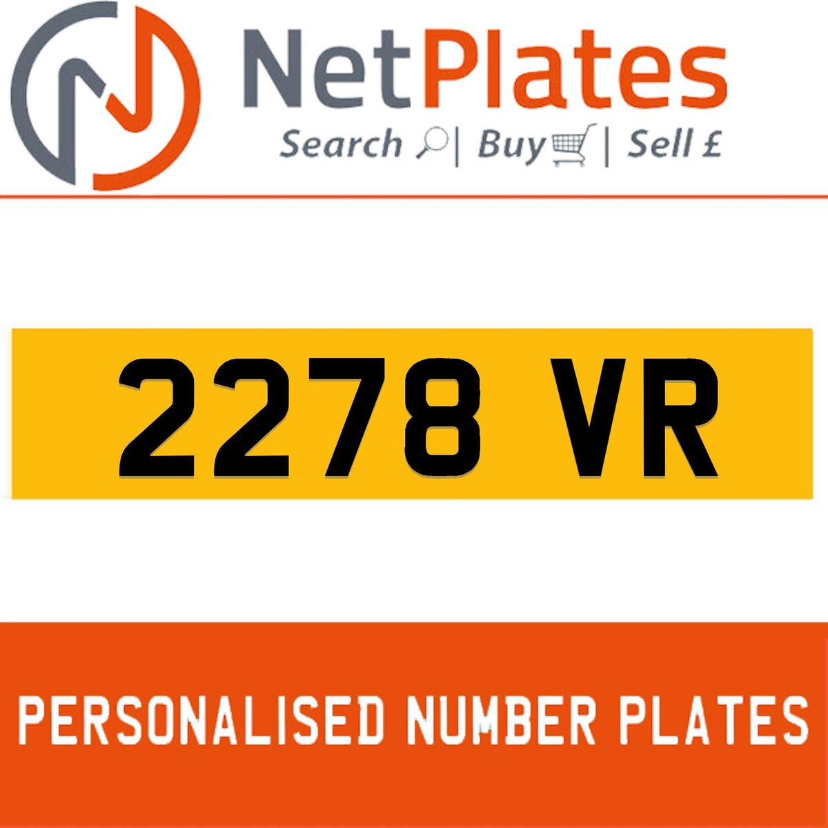 2278 VR PERSONALISED PRIVATE CHERISHED DVLA NUMBER PLATE For Sale (picture 1 of 5)