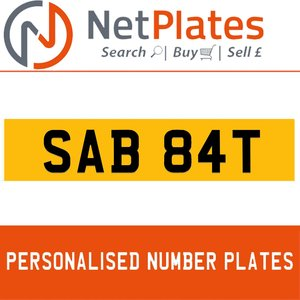 SAB 84T PERSONALISED PRIVATE CHERISHED DVLA NUMBER PLATE For Sale