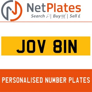 JOV 81N PERSONALISED PRIVATE CHERISHED DVLA NUMBER PLATE For Sale