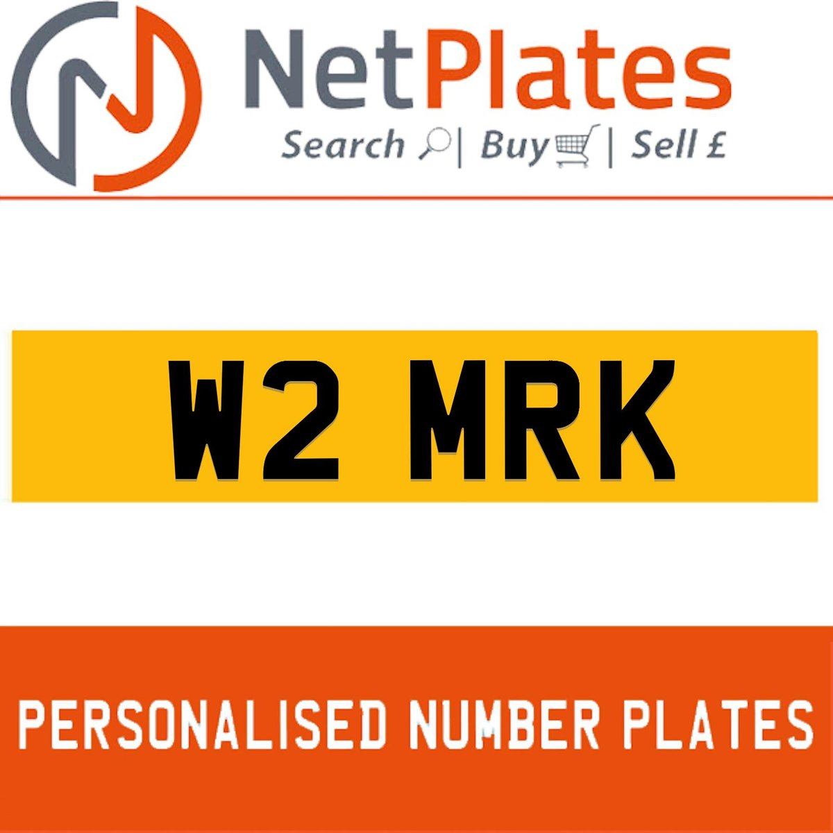 W2 MRK PERSONALISED PRIVATE CHERISHED DVLA NUMBER PLATE For Sale (picture 1 of 5)