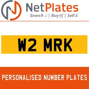 W2 MRK PERSONALISED PRIVATE CHERISHED DVLA NUMBER PLATE For Sale