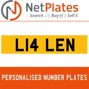 L14 LEN PERSONALISED PRIVATE CHERISHED DVLA NUMBER PLATE For Sale