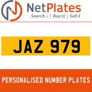 JAZ 979 PERSONALISED PRIVATE CHERISHED DVLA NUMBER PLATE