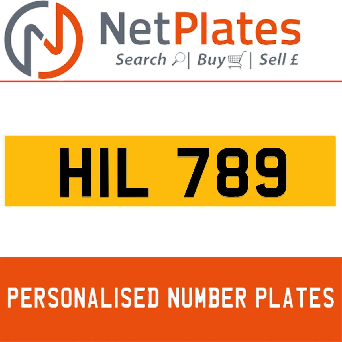 HIL 789 PERSONALISED PRIVATE CHERISHED DVLA NUMBER PLATE For Sale (picture 1 of 5)