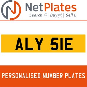 ALY 51E PERSONALISED PRIVATE CHERISHED DVLA NUMBER PLATE