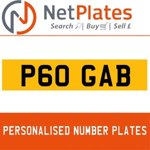 P6 GAB PERSONALISED PRIVATE CHERISHED DVLA NUMBER PLATE For Sale
