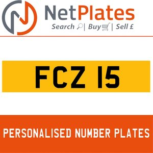 FCZ 15 PERSONALISED PRIVATE CHERISHED DVLA NUMBER PLATE