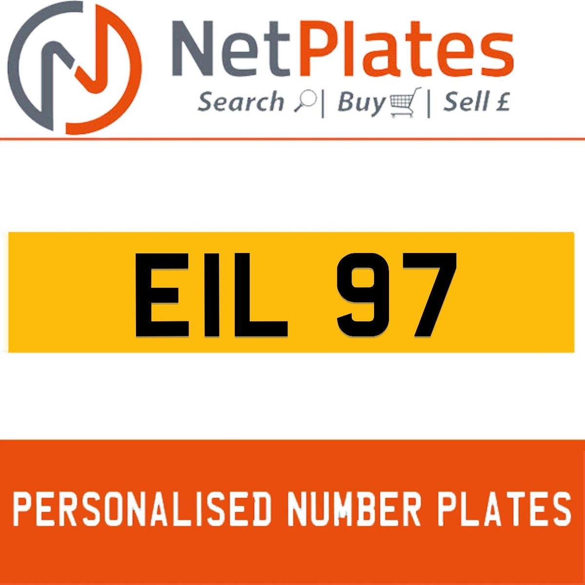 EIL 97 PERSONALISED PRIVATE CHERISHED DVLA NUMBER PLATE For Sale (picture 1 of 5)