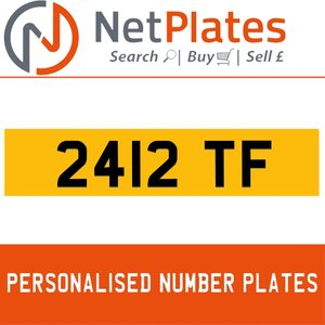 2412 TF PERSONALISED PRIVATE CHERISHED DVLA NUMBER PLATE For Sale