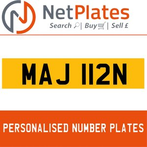 MAJ 112N PERSONALISED PRIVATE CHERISHED DVLA NUMBER PLATE For Sale