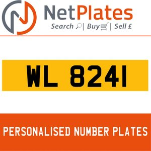 WL 8241 PERSONALISED PRIVATE CHERISHED DVLA NUMBER PLATE