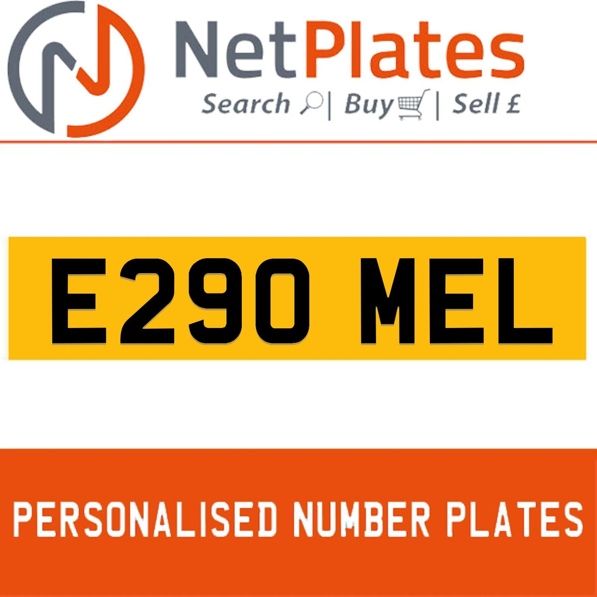 E290 MEL PERSONALISED PRIVATE CHERISHED DVLA NUMBER PLATE For Sale (picture 1 of 5)