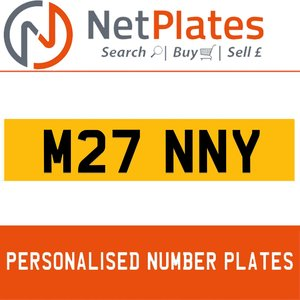 M27 NNY PERSONALISED PRIVATE CHERISHED DVLA NUMBER PLATE