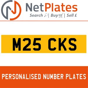 M25 CKS PERSONALISED PRIVATE CHERISHED DVLA NUMBER PLATE For Sale