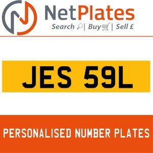 JES 59L PERSONALISED PRIVATE CHERISHED DVLA NUMBER PLATE