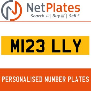 M123 LLY PERSONALISED PRIVATE CHERISHED DVLA NUMBER PLATE For Sale