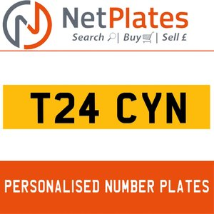 T24 CYN PERSONALISED PRIVATE CHERISHED DVLA NUMBER PLATE For Sale