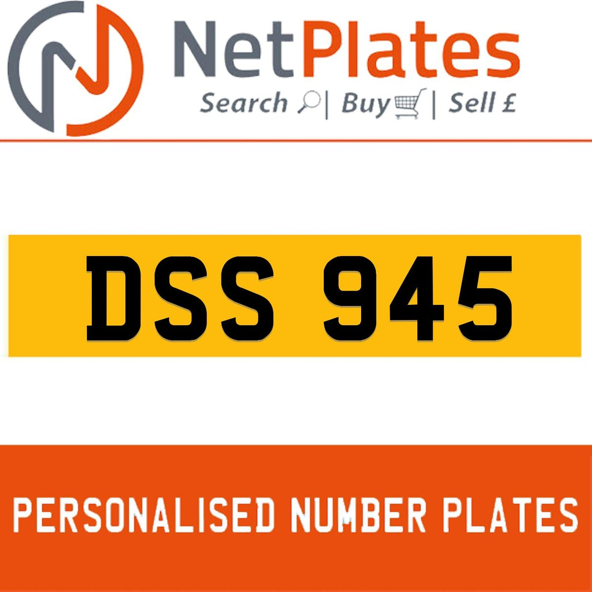 DSS 945 PERSONALISED PRIVATE CHERISHED DVLA NUMBER PLATE For Sale (picture 1 of 5)