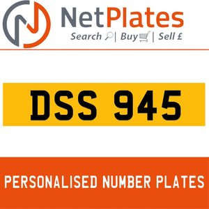 DSS 945 PERSONALISED PRIVATE CHERISHED DVLA NUMBER PLATE For Sale