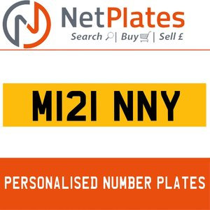 M121 NNY PERSONALISED PRIVATE CHERISHED DVLA NUMBER PLATE For Sale