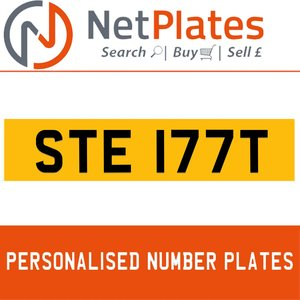STE 177T PERSONALISED PRIVATE CHERISHED DVLA NUMBER PLATE For Sale