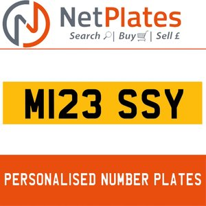 M123 SSY PERSONALISED PRIVATE CHERISHED DVLA NUMBER PLATE