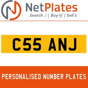 C55 ANJ PERSONALISED PRIVATE CHERISHED DVLA NUMBER PLATE