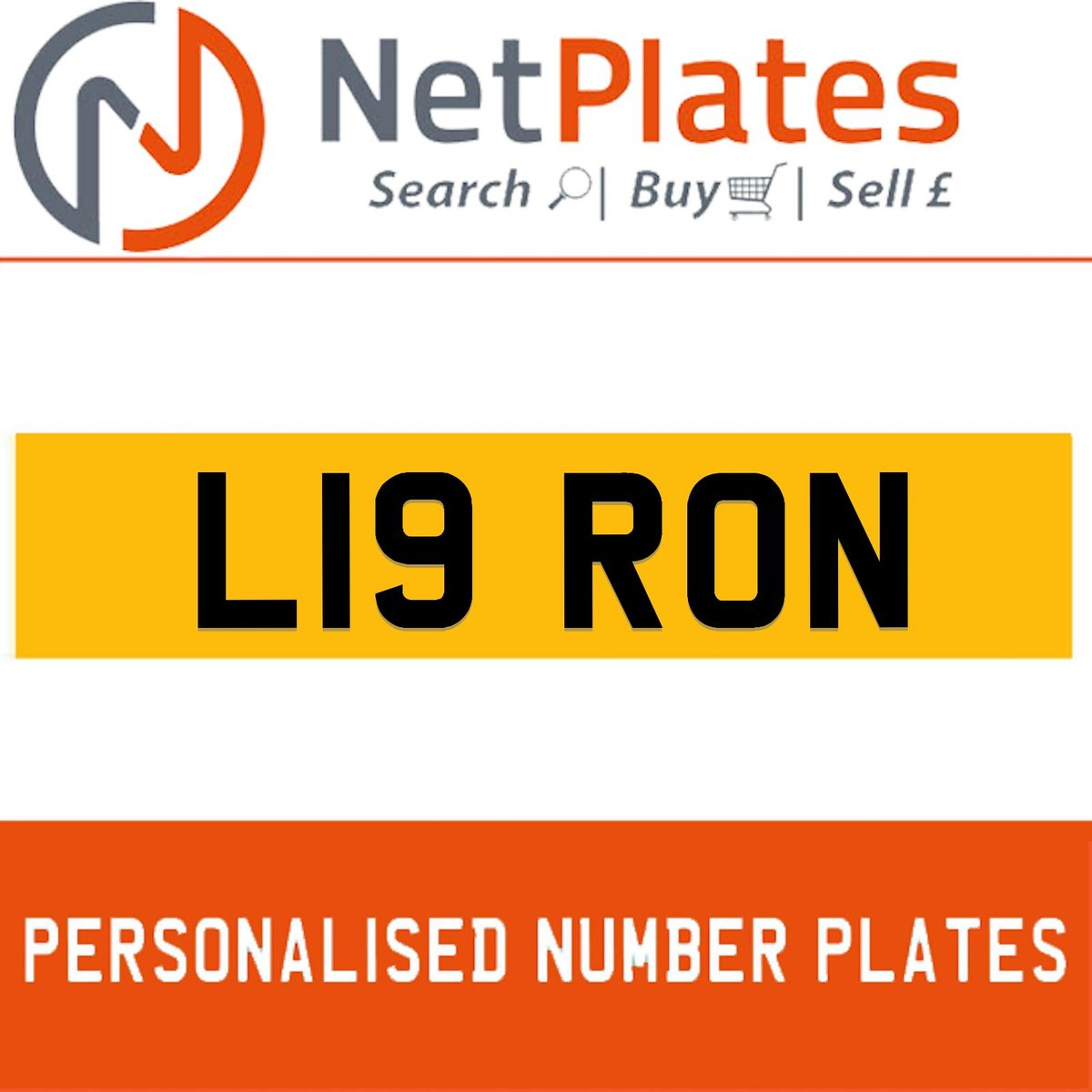 L19 RON PERSONALISED PRIVATE CHERISHED DVLA NUMBER PLATE For Sale (picture 1 of 5)