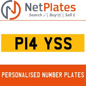 P14 YSS PERSONALISED PRIVATE CHERISHED DVLA NUMBER PLATE For Sale